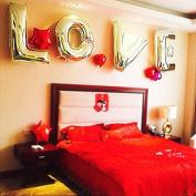 LOVE 100cm Gold Foil Balloons - Stronger Mylar Resists Breakage