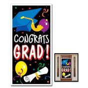 CONGRATS GRAD - Door COVER Banner - GRADUATION PARTY Decor DECORATIONS 80cm x 1.5m