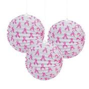 Pink Ribbon Party Lanterns 2 Dozens