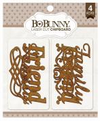 Bo Bunny - Family Laser Cut Chipboard