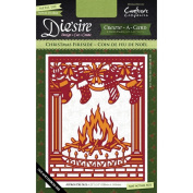 Crafter's Companion Die'sire Create-A-Card Cutting & Embossing Die Christmas Fireside