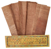 10 Blank Brown Egyptian Papyrus bookmarks for Art Projects and Schools 7.2 x2.0 inch (5x18 cm ) by CraftsOfEgypt