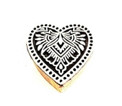 Handmade Vintage Paisley Wooden Stamp India Weavers Textile Block-printing Stamp : Heart Design