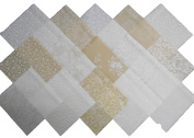 15 25cm Layer Cake Beautiful Cream and Sugar Neutral Quilt Fabric Squares