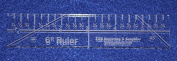15cm Ruler - 0.6cm thick. Quilting/Sewing Clear Acrylic - Quilting/sewing