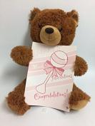 """Zazie """"New Baby"""" Teddy Bear with Oversized Baby Card"""