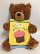 Zazie Birthday Teddy Bear with Oversize Birthday Card