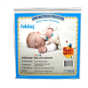 Premium baby mattress protector for cribs, waterproof soft and absorbent quilted cotton surface, comfortable mattress pad for baby crib and toddler bed topper