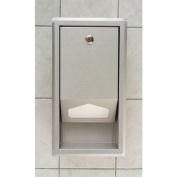 Koala Kare KB134-SSLD Stainless Steel Recess Mount Sanitary Changing Table Liner Dispenser