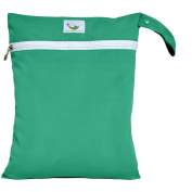 Sweet Pea Cloth Nappy Wet Bag - Teal Green