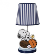 Bedtime Originals Snoopy Sports Lamp with Shade and Bulb