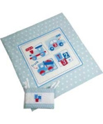 My Toybox Quilt And Bumper Set - Blue.