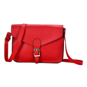 Voberry® Leather Shoulder Bag Satchel Handbag Retro Messenger Bag