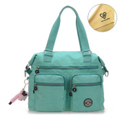 Tiny Chou (TM) Lightweight Water Resistant Nylon Totes Crossbody Bag Shoulder Bag with Pockets Large