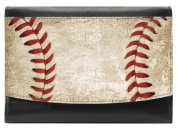 Snaptotes Baseball Leather Compact French Wallet