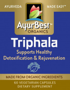 AyurBest Triphala 60 Vege Capsules, USDA Organic Certified Ingredients