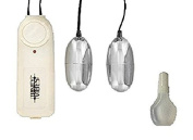 Twin Bullets Vibe Toy White Colour for Women Pleasure and a Bottle of Lube 20ml