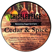 Handmade Luxury Shaving Soap - Cedar & Spice From Chiselled Face Groomatorium