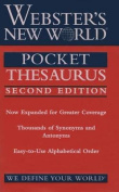 Webster's New World Pocket Thesaurus