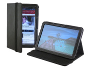 Cover-Up Motorola Xoom Tablet (26cm ) Version Stand Leather Cover Case - Black