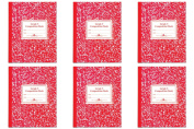Roaring Spring Paper Products Composition Book, Grade 3 Ruled, 50 Sheets, 25cm x 20cm , Red (ROA77922), 6 Packs