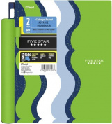 Five Star Advance Spiral Notebook, 2 Subject, 120 College-Ruled sheets, 28cm x 22cm Sheet Size, Green/Blue/White