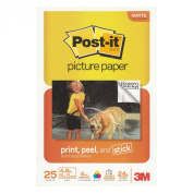 Post it® 4 x 6 Picture Paper, Matte Finish, 25 Sheets/Pack