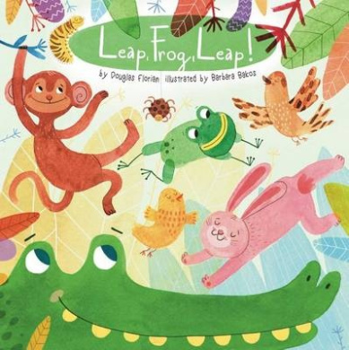 Leap, Frog, Leap! (Animals Play) [Board book]