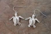 Sterling Silver Sea Turtle Hatchling Dangle Earrings Jewellery Earring Ocean Turtles Charms