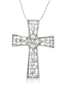 Akianna Silver-tone. Element Clear Crystals Celtic Cross Pendant Necklace