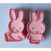 2pcs Miffy cookie cutter Fondant Cake sugarcraft crafts mould modelling tool new
