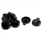 Plastic Gas Stove Cooker Oven Range Knob Controller Switch 8pcs Black