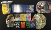 100 Assorted Pokemon Cards with 2 Ultra Rares! Bonus 20 Foils + Pokemon Deck Box + Pokemon Tin! Plus Bonus 3 Free Golden Groundhog Token Counters!