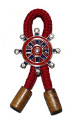 Sailor Marine Red Rope and Wood Blazer Jacket Clothing Fashion Costume Brooch/Pin #BP-16
