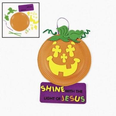 Paper Plate & Foam Christian Pumpkin Craft Kit - Sunday School & Crafts for Kids
