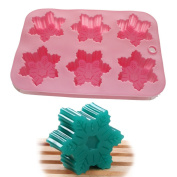X-Haibei Snowflake Soap Chocolate Jelly Muffin Cake Baking Silicone Mould Tray Mould