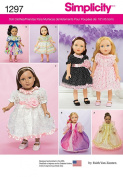 SIMPLICITY 1297 46cm INCH DOLL CLOTHES SEWING PATTERN