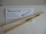 THE PAMPERED CHEF BAMBOO TOAST TONGS