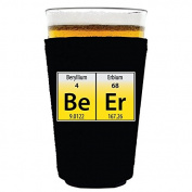 Coolie Junction Beer Elements Funny Pint Glass Coolie Black