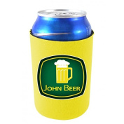 Coolie Junction John Beer Funny Can Coolie Yellow
