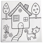 C.R. Gibson Paint and Create Canvas Kit, 25cm x 25cm , Home Sweet Home