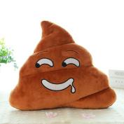 Sandistore Emoji Emoticon Cushion Poo Shape Pillow Doll Toy Throw Pillow (Saliva(23*20cm