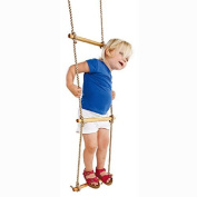 HappyPie Playground Climbing Wooden Rope Ladder for Kids Indoor/Outdoor-160cm Length