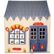 Small Toy Shop 100% Cotton Embroidered and Appliqued Playhouse