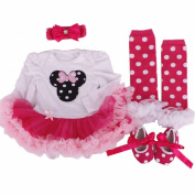 Anik Sunny Baby Girls tutu Romper Dress Clothing jumpsuit Headband Shoes Kids Rompers Clothes Set Birthday Christmas Costume