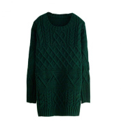 Arrowhunt Women's Knitted Pullover Long Sleeve Jumper Long Sweater