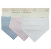 BABY TOWN Single Pack Baby Boys Baby Girls Plain Bandana Bib in White, Pink or Blue, Babies Bibs