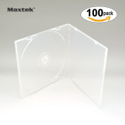 Maxtek 5.2mm Slim Single Clear PP Poly Plastic Cases with Outer Sleeve, 100 pack.