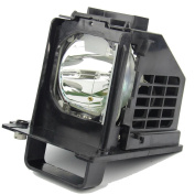 Replacement Lamp with Housing for Mitsubishi WD-60638, WD-60638CA, WD-60738, WD-60C10 (915b441001) - 180 Day Warranty