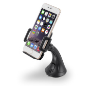 Car Mount, Getron Universal Multi-Angle Windshield Dashboard Car Smartphone Holder, Car Cradle Stand for Cell Phone up to 10cm Wide ,Supports iPhone, for for for for for for for for for Samsung , LG, Nexus, HTC, Moto etc.-Black
